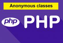 Photo of کلاس بی نام یا anonymous در php 7