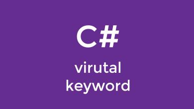 Photo of آموزش کلمه کلیدی virtual در سی شارپ