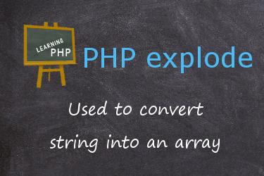 تابع explode در php