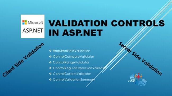 کنترل های معتبرسازی در asp.net